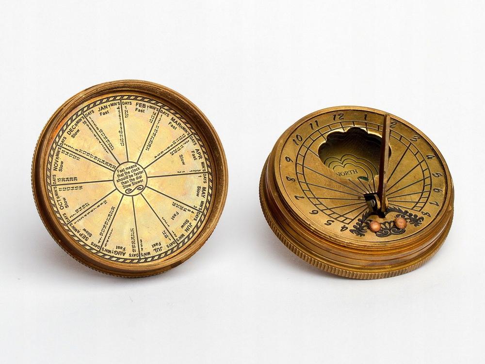 Zlatý kompas Retro Steampunk slnečnými HEATH