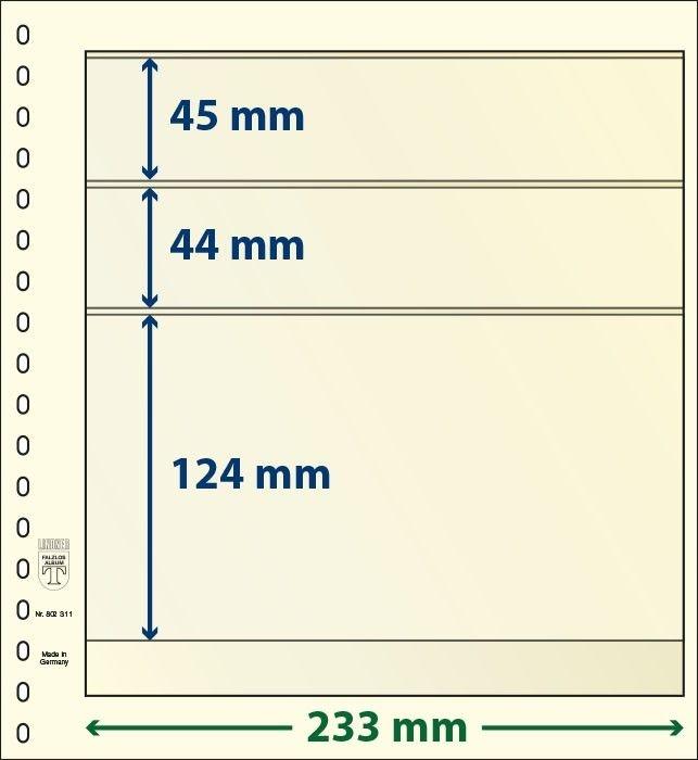 T-karta 802 311 - 3 kieszenie na zanczki - LINDNER