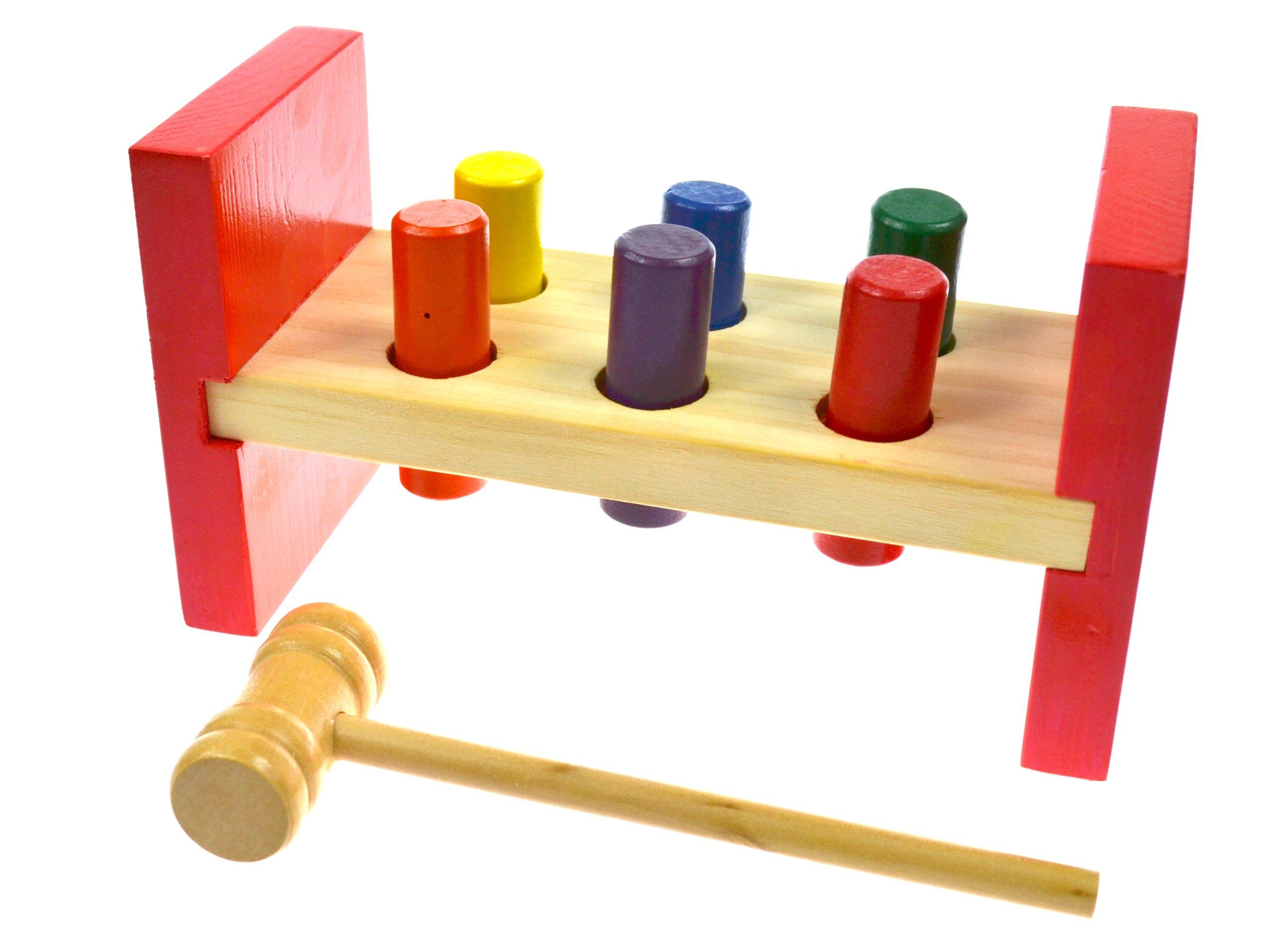 Vzdelávacia drevená hra Pestle Kamuszak Hammer