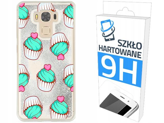 Etui Brokat + Szkło na Asus Zenfone 3 Max ZC553KL