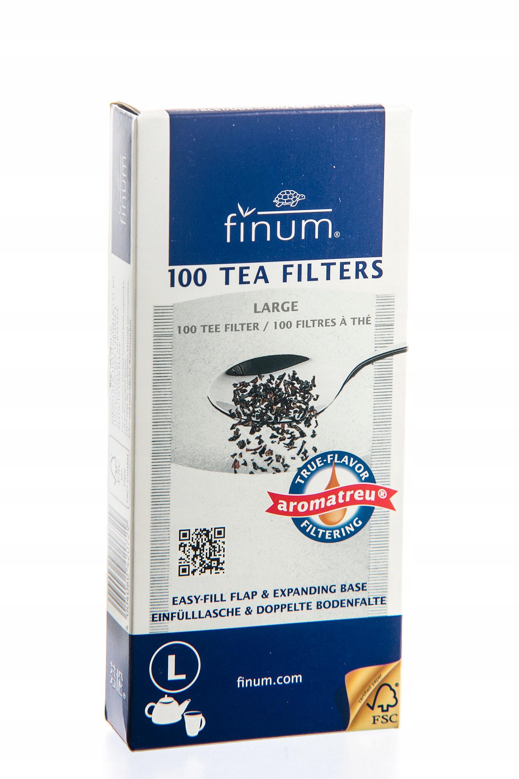 Бумажные фильтры для чая FINUM L (BIG) 100 шт.
