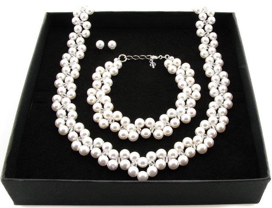 Item ARSYLION zelements necklace Swarovski White pearl
