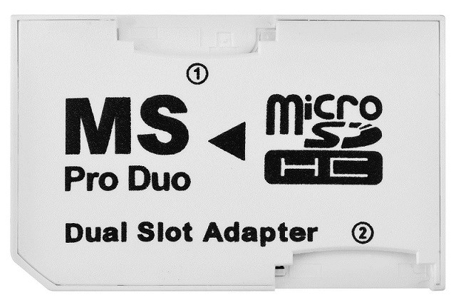 QBA2 Adaptér Dual 2xMicro SD / Memory Stick PRO DUO