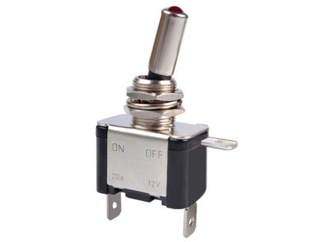 переключатель on-off красная светодиод led 12v  20a