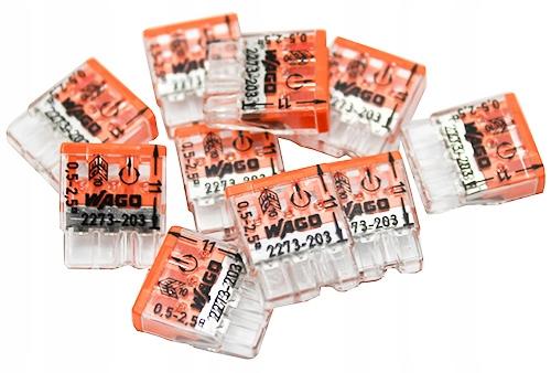 WAGO 2273-203 быстроразъемное соединение 3x2,5 разъем 10 штук