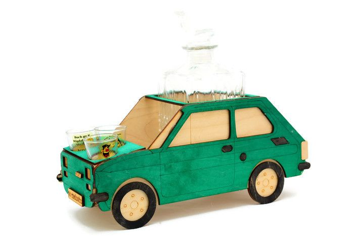 CARRIER FIAT 126P WOODEN FUNNY GIFT гравер