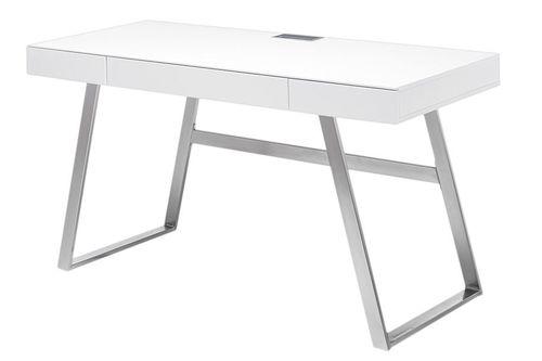 Stôl Aspen biely moderný lak matný