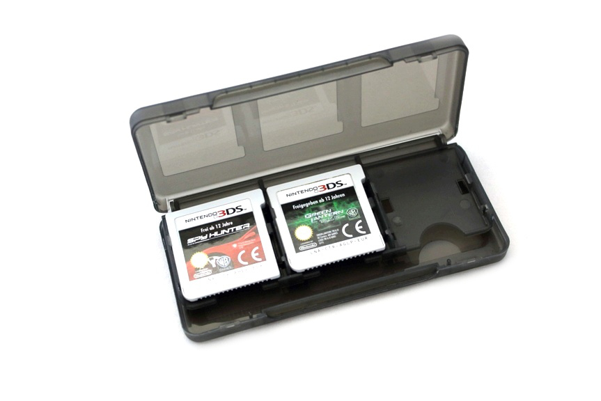 Item Box for game 6 games for 3DS, 2DS, DSi DS [Black]