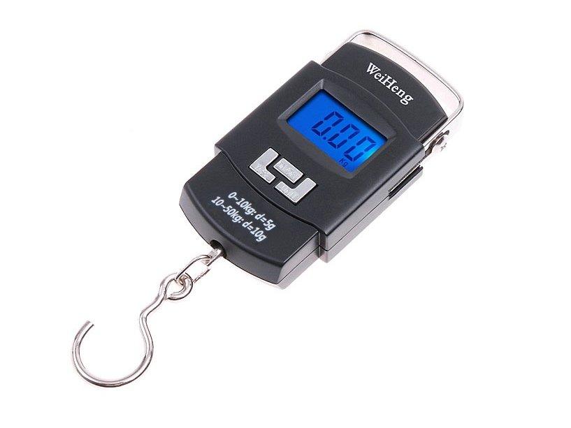Háčik Elektronická turistická hmotnosť 50 kg 5g / 10g