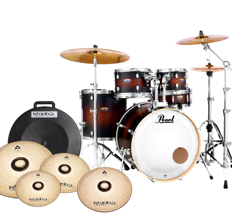 Javorové bubny Pearl Dekáda + HW + B20 Plates - my