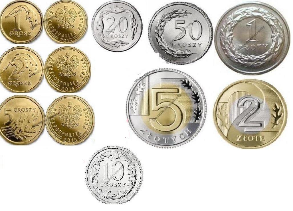 1,2,5,10,20,50 PLN 1,2,5 2015 комплект 9 комплект