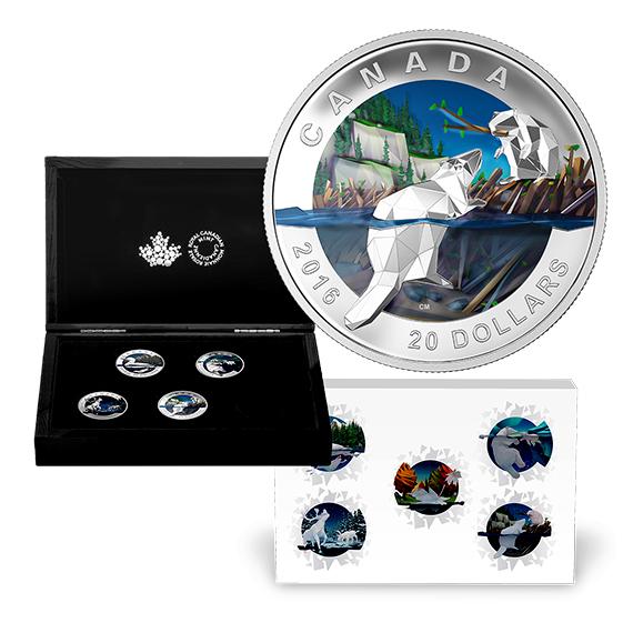 Kanada 2016 - 20 $ Geometria v Art 5 x 1oz. Nasadiť sa