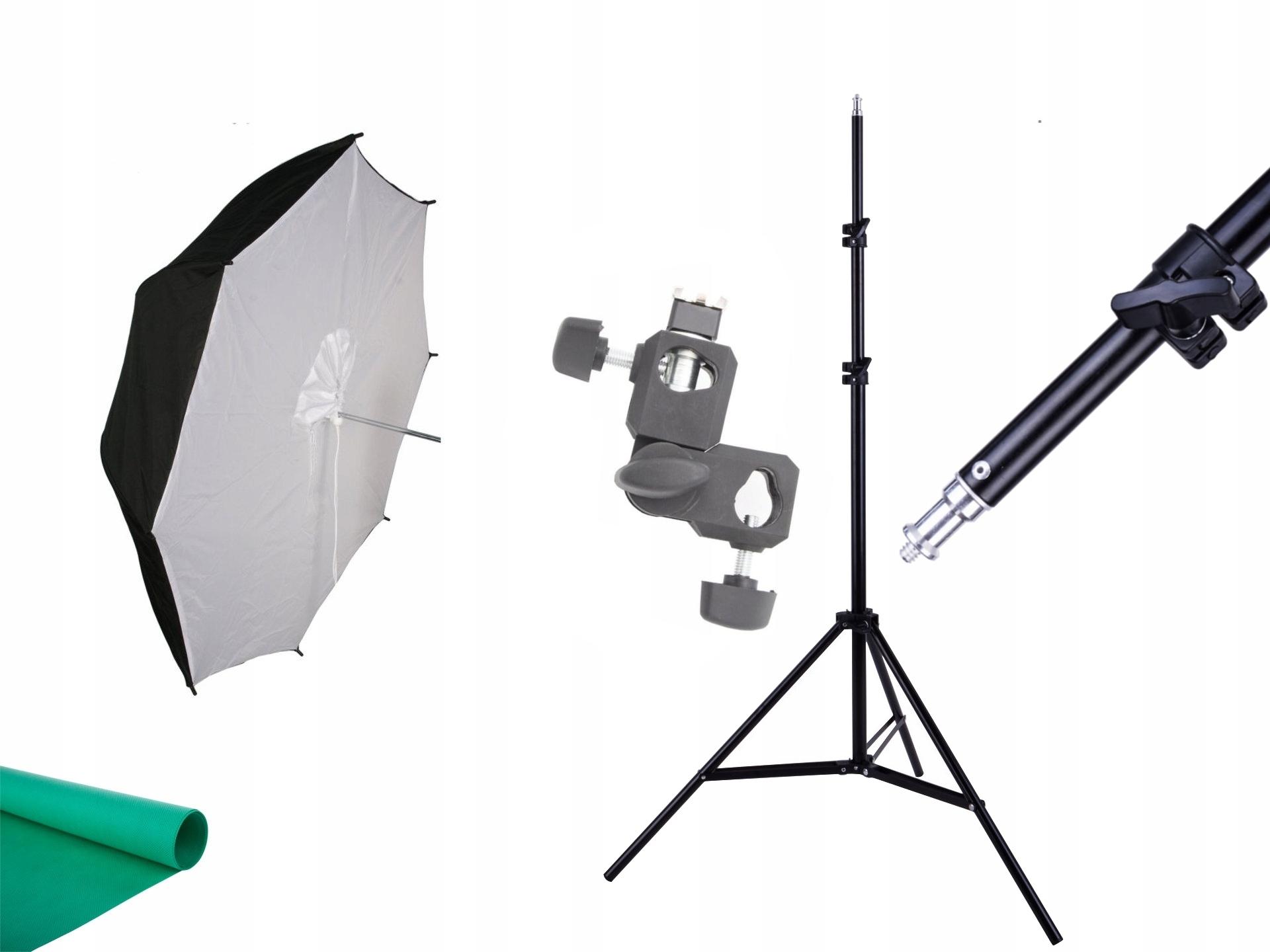 Reportérový súbor dáždniku reflex. Držiak softbox