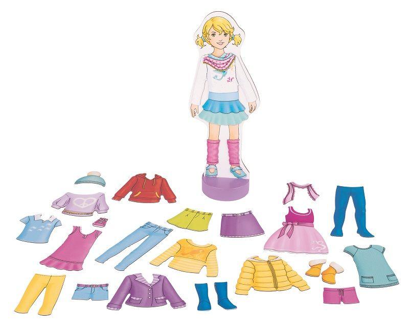 Zdobiť bábiku s magnetovým oblečením! Gól