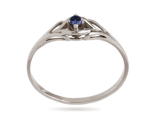 ZŁOTY 585 pierścionek z SZAFIR. zaręczynowy w.24h 6399306755 evMf64BQ