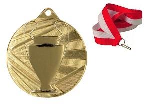 Medail Golden Cup 50mm + stuha a tlač