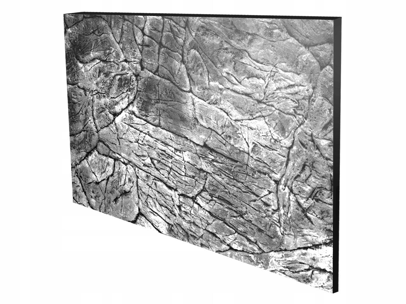 ŠTRUKTURÁLNE POZADIE pre akvárium ploché sivá 100x40