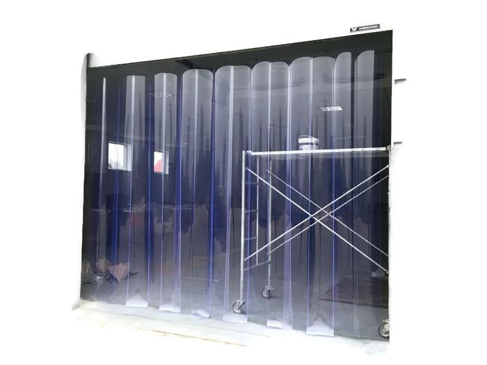 1 m2 Hotové priemyselné závesy PVC COTARY