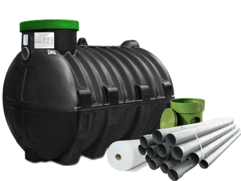 Очистные сооружения бытовых сточных вод объемом 2000 литров, вместимостью до 5 человек