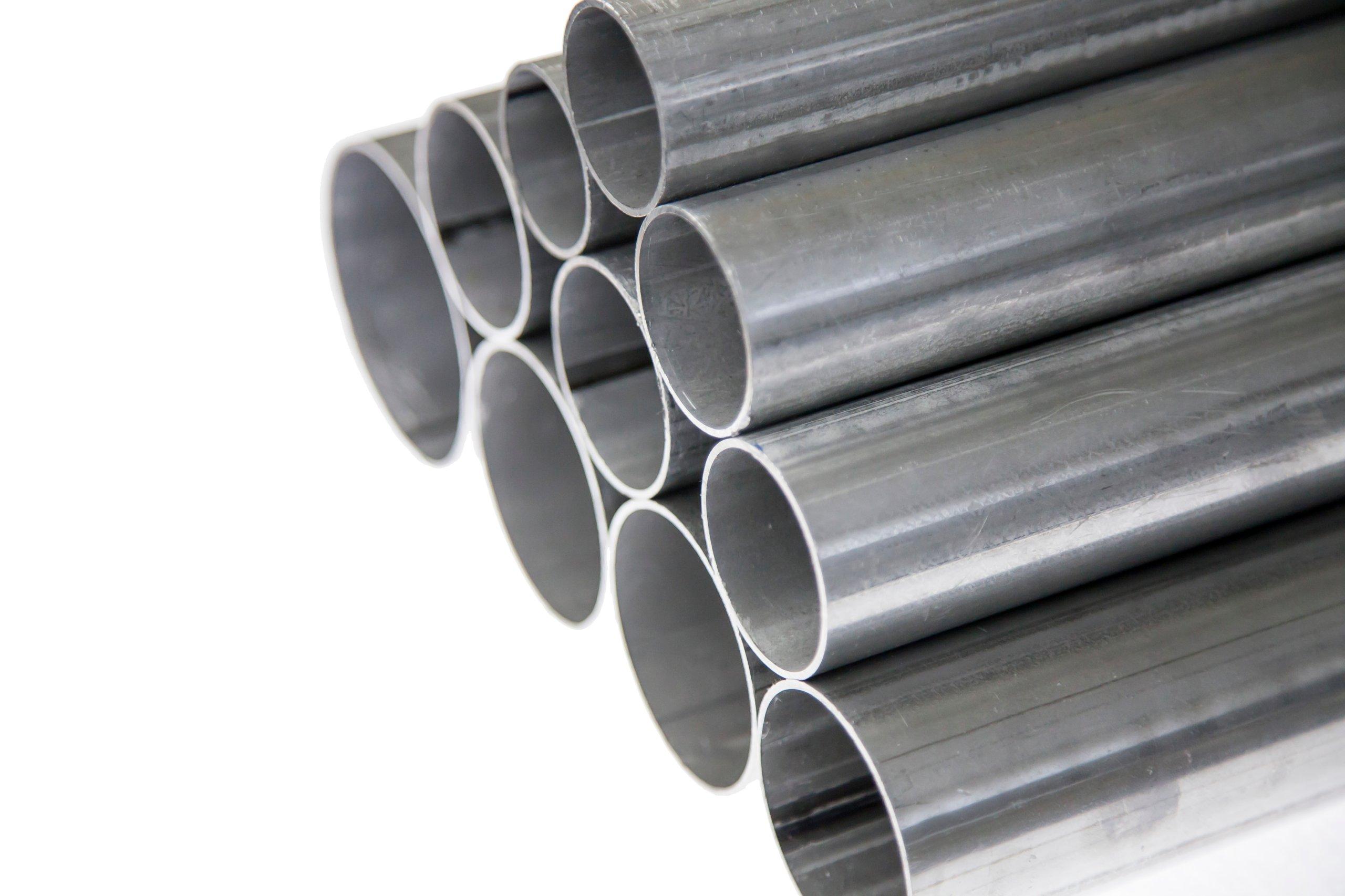 Прямая выхлопная труба из алюминия 65мм х 1Мб