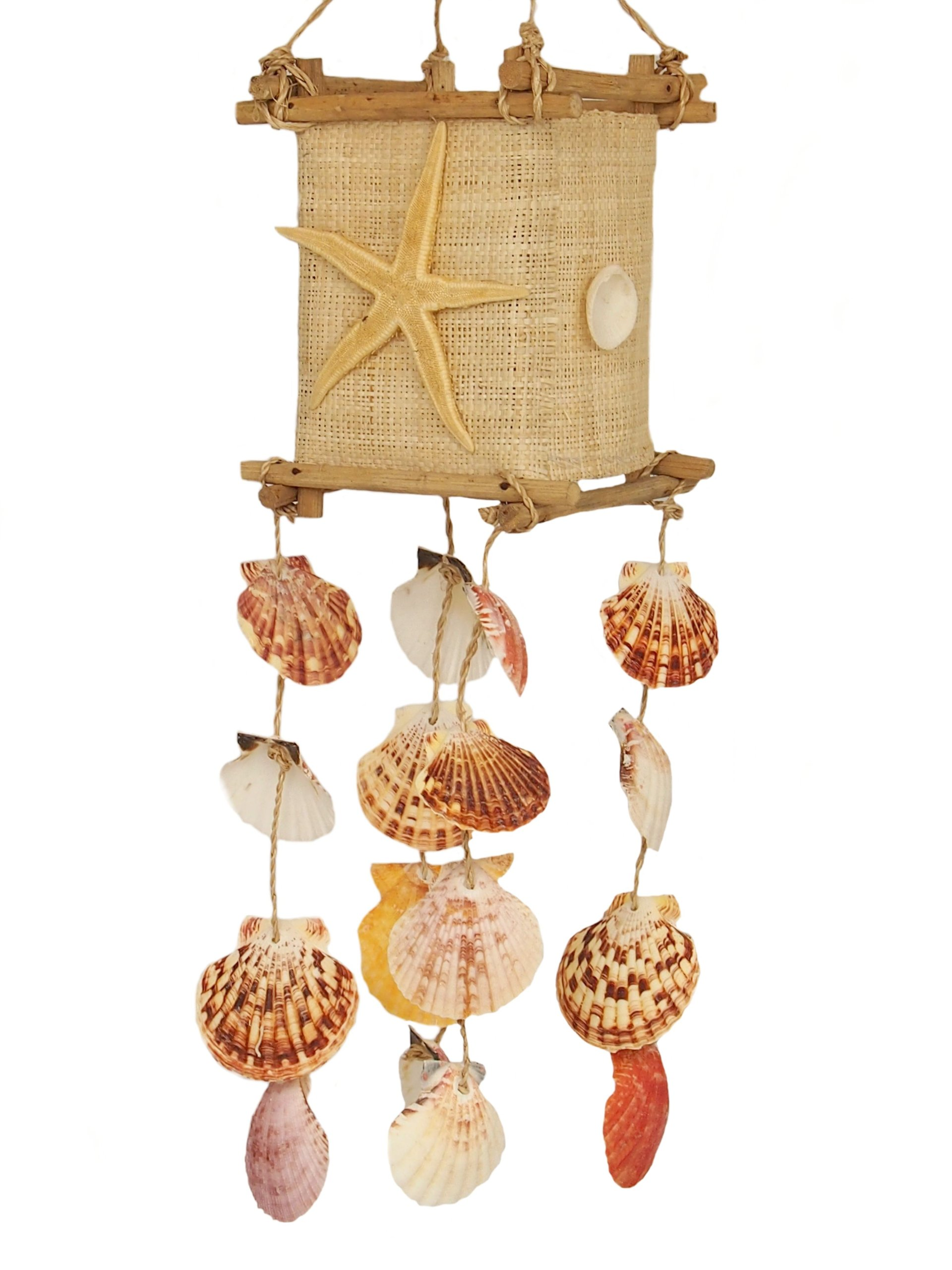 Veterné zvončeky dekorácie s mušľami shells