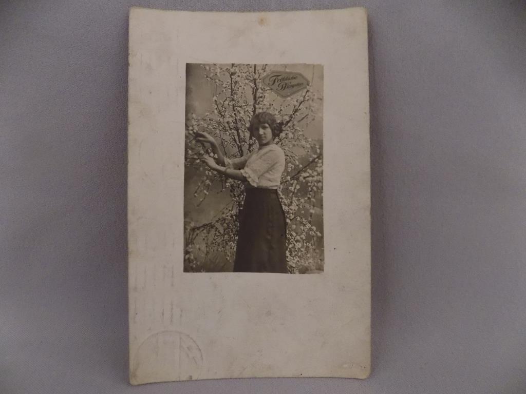 pocztówka FROHLICHE Pfingsten 1913r