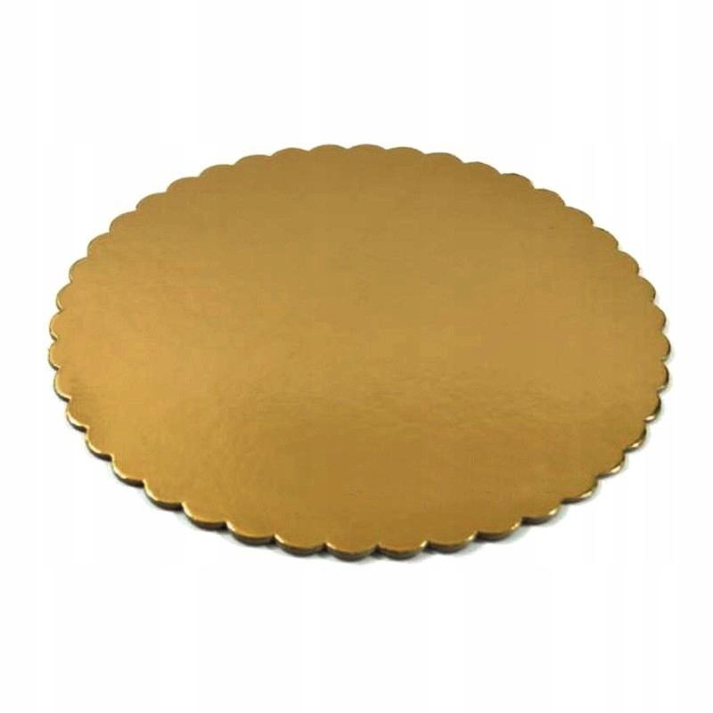 Подкладки пирог Круглые золотые 24см (1шт) жесткая