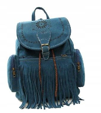 Batoh žien vintage strapce openwork modrá