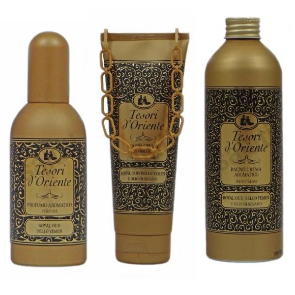 Набор Tesori d'Oriente Royal гель, духи и жидкость