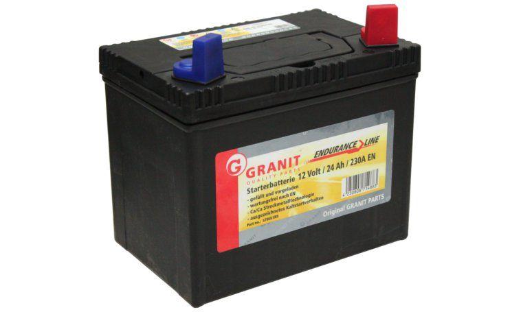 Batéria 12V 24Ah pre kosačky vybavené kabínou, a 3 roky gw