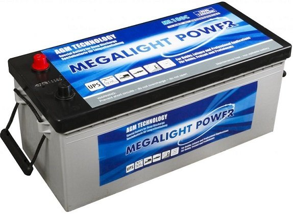 Thermotrousers MEGAlight batérie 180 Ah AGM solárne solárne
