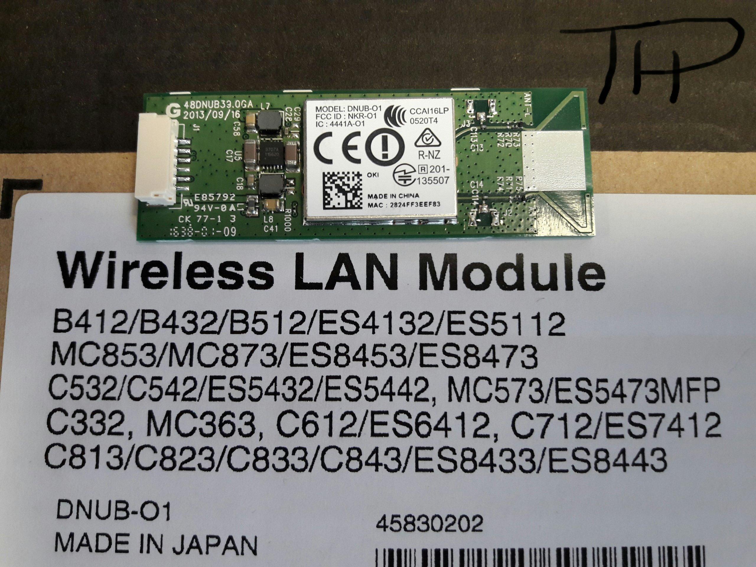 WiFi 45830202 OKI B432DN C532DN MC363DN WAWA
