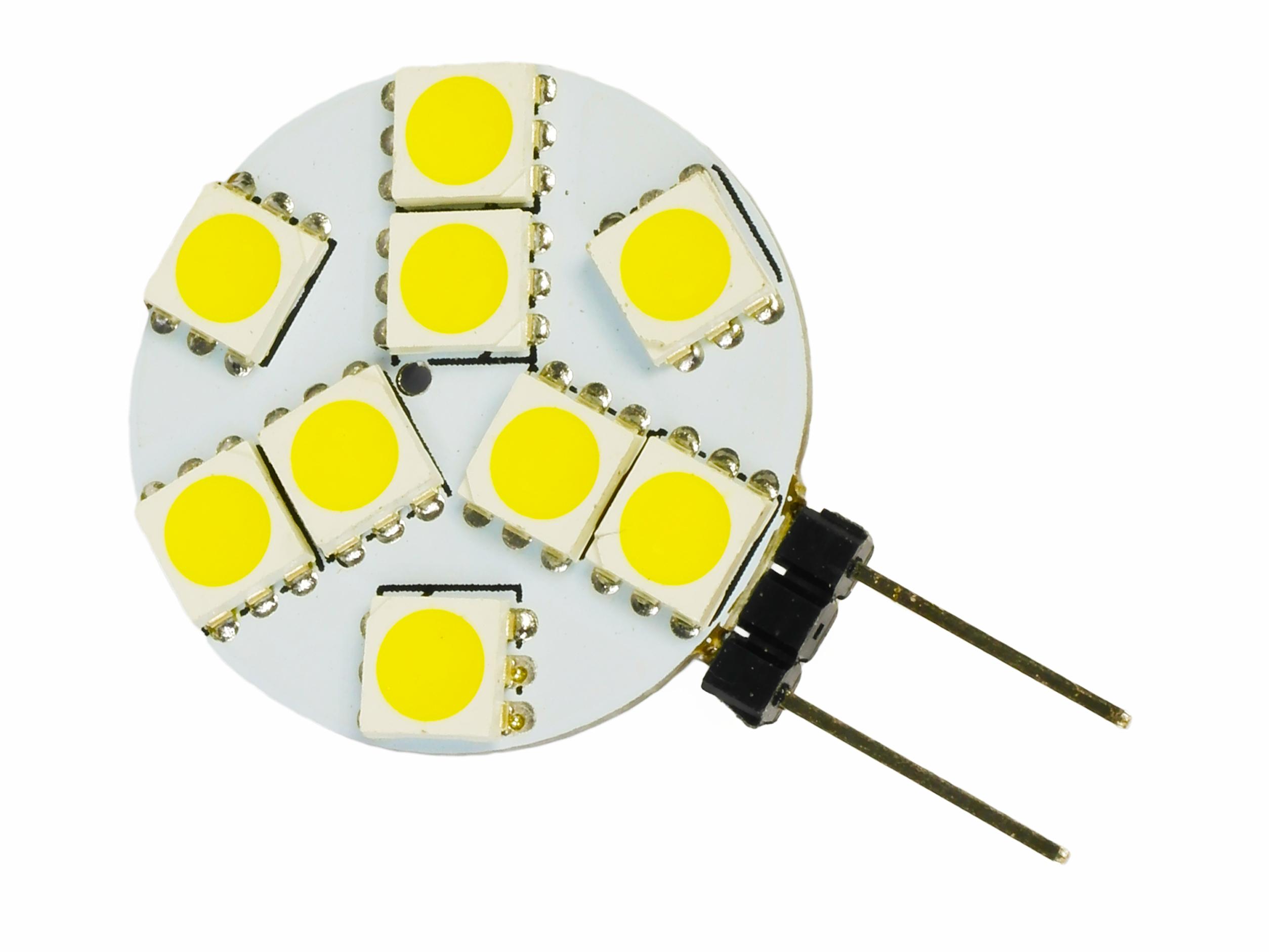 Žiarovka G4 9 LED 12VDC 2W 5050 SMD 150lm studené