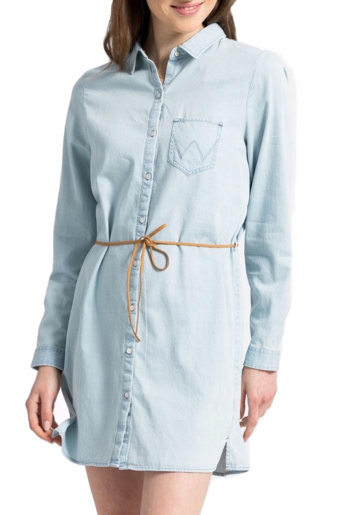 Wrangler Dress Tunika Sukienka Damska Błękitna Xs