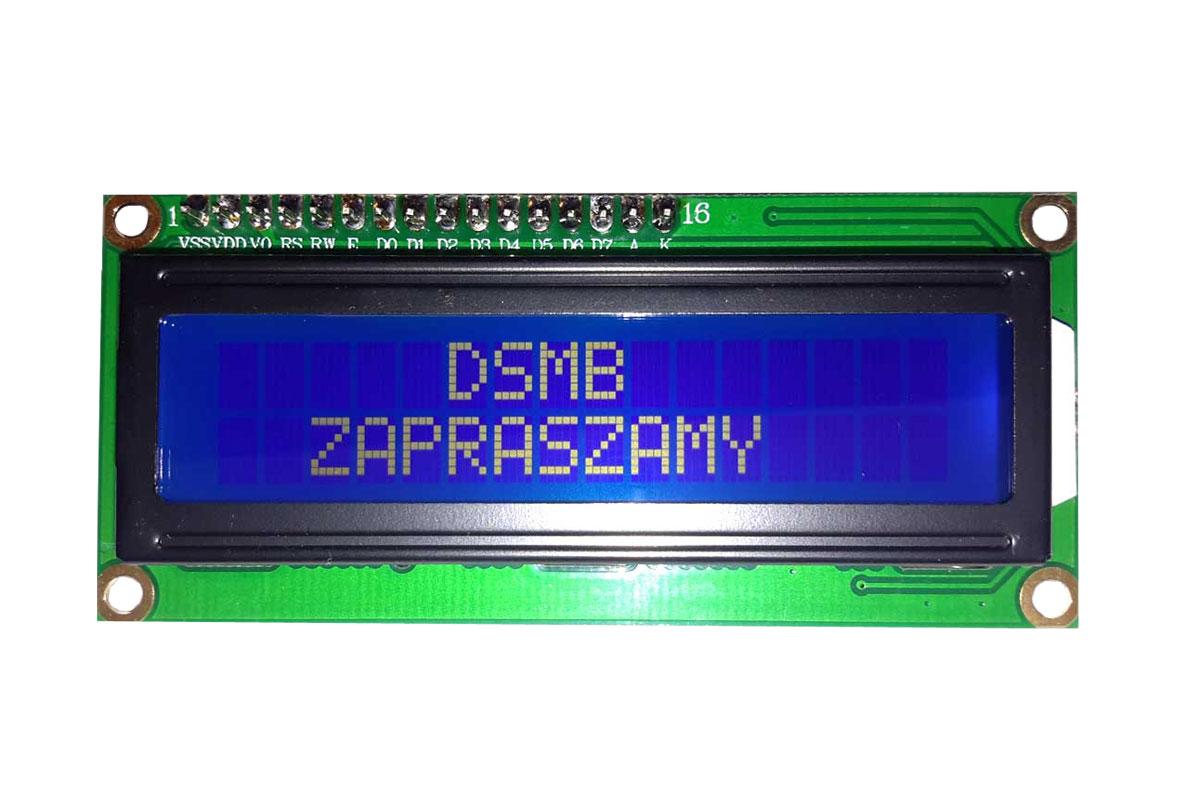 ЖК-дисплей HD44780 2x16 a blue ARDUINO