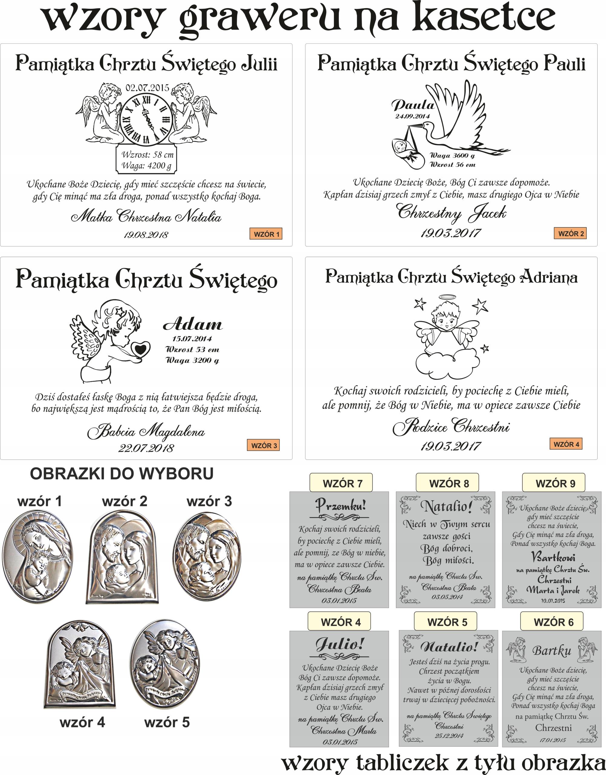 Obrazek Srebrny Biblia Chrzest Zestaw Grawer Hit 6724123049 Allegro Pl