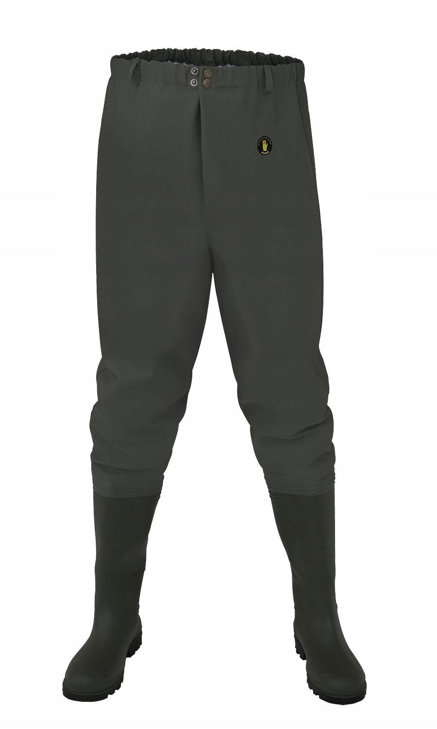 Spodnie Wodery Wędkarskie z wgrzanym kaloszem PROS