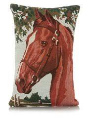Vankúš Obdĺžnikový veľké vintage gobelín Kôň