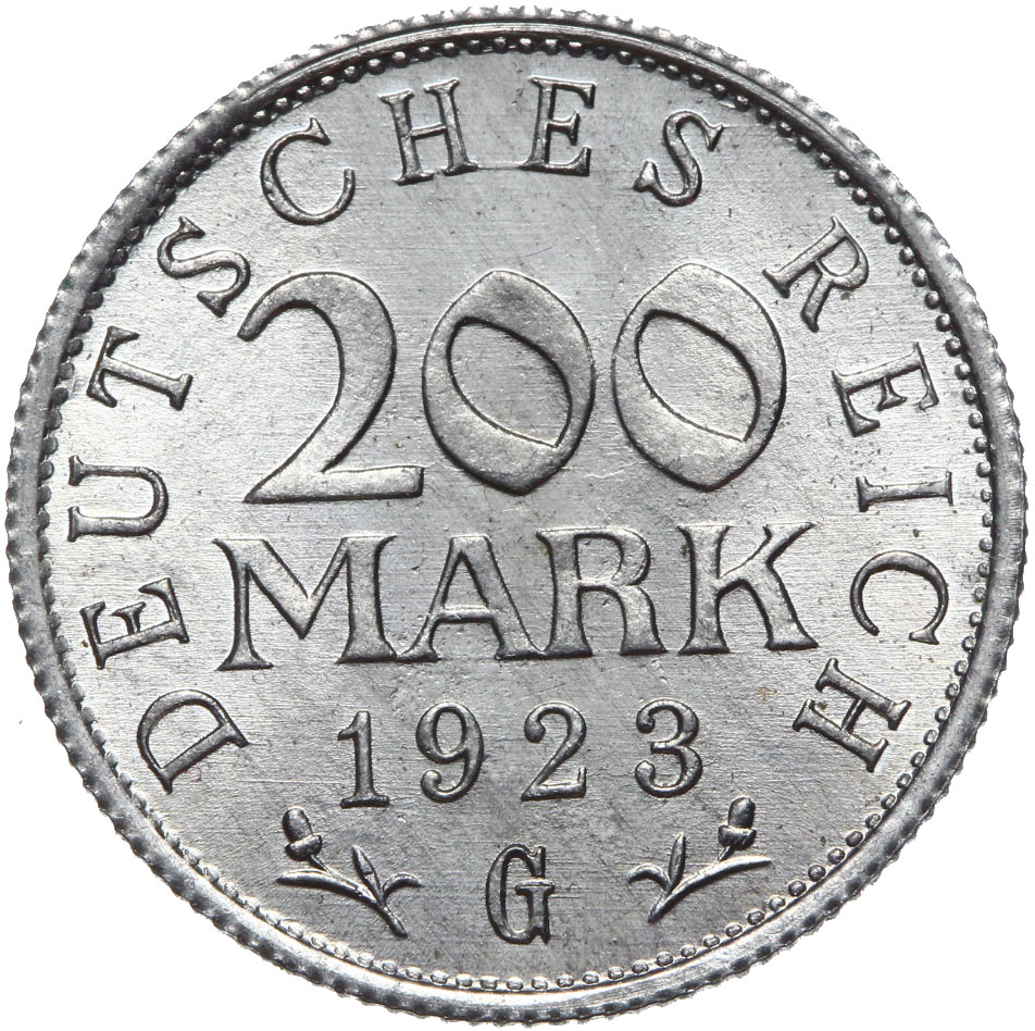 Nemecko - 200 značiek 1923 g - Kino s rolkom