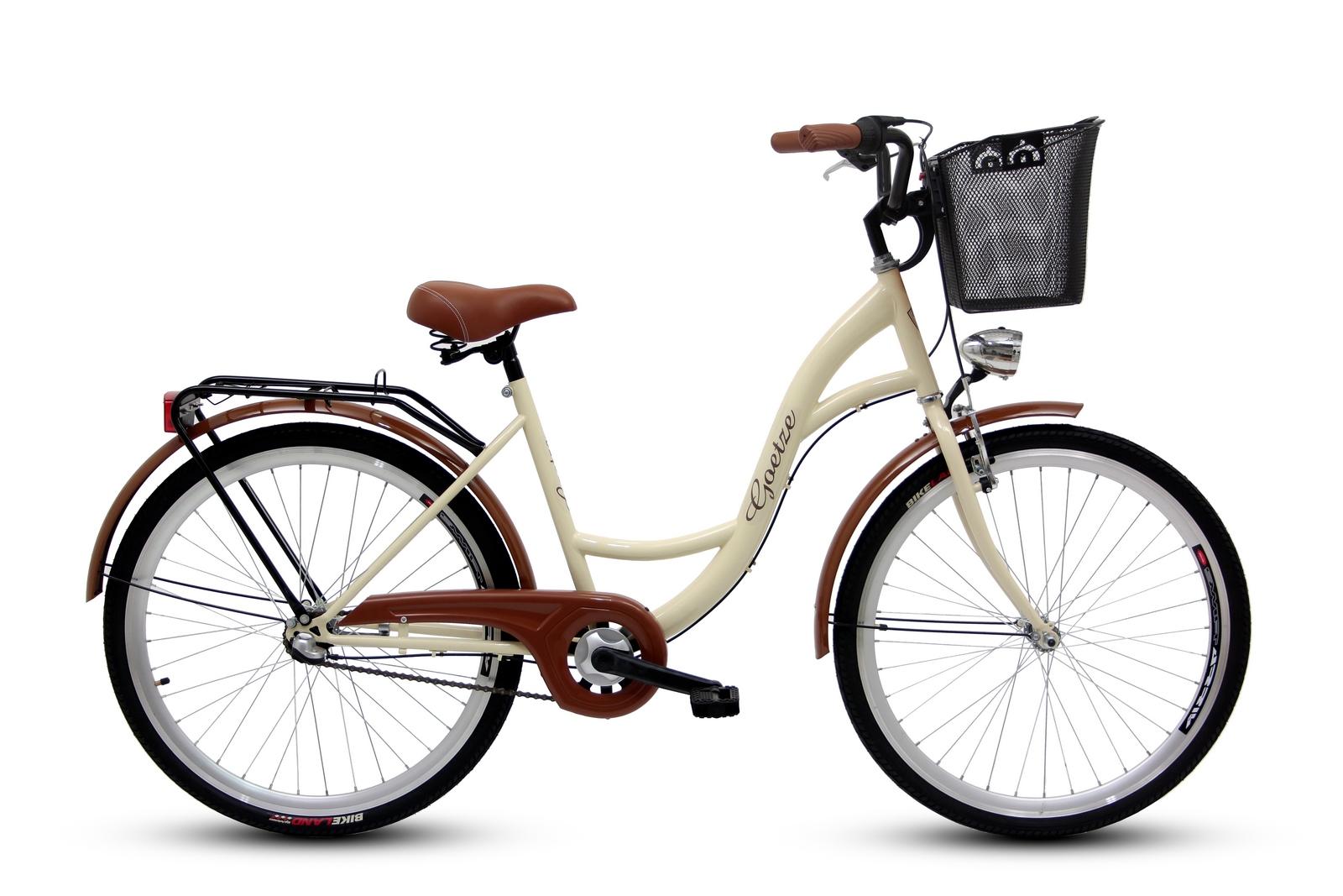 Dámsky mestský bicykel GOETZE 26, 3-rýchlostný kôš zadarmo!  Značka Goetze