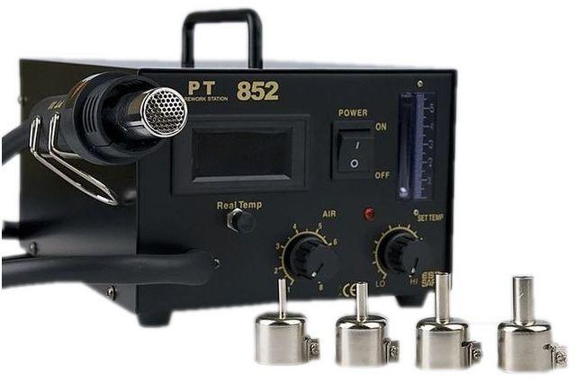 Teplovzdušná spájkovacia stanica PT 852 + dýzy 4 W-a