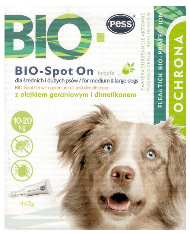Pess био капли 4 Ампулы блох - клещей для собаки