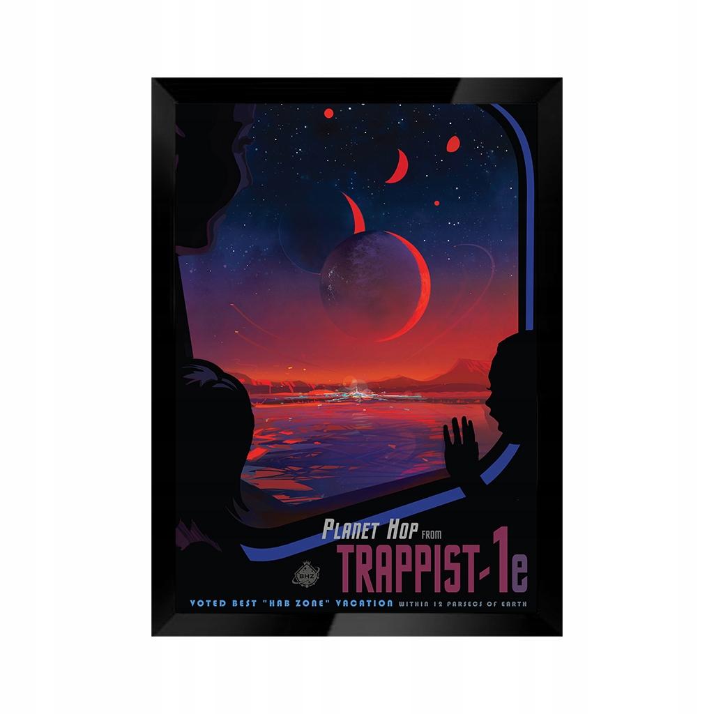 Obraz TRAPPIST-1e retrofuture science fantasy