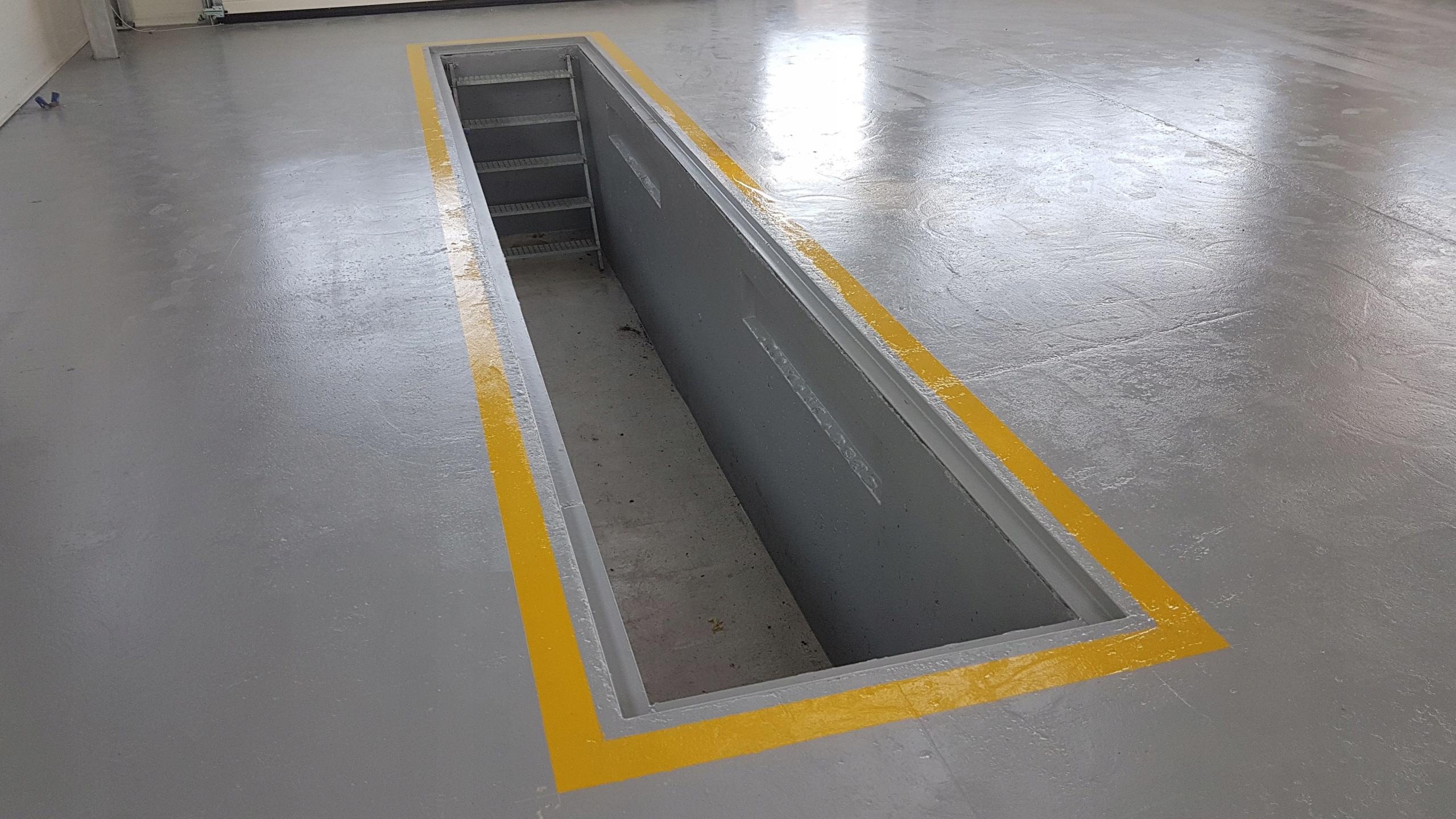 Item Channel automotive workshop concrete cast length 7m