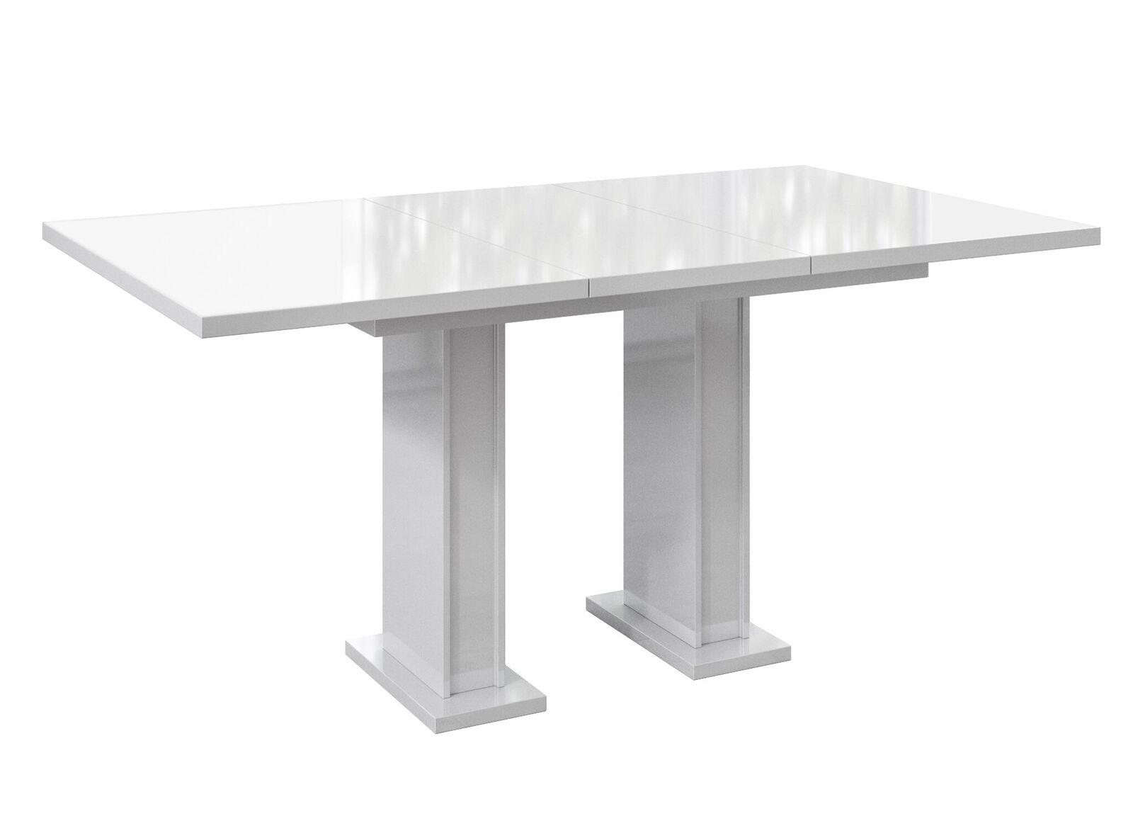 стол раскладной 120-160 Белый Черный блеск 7 дней
