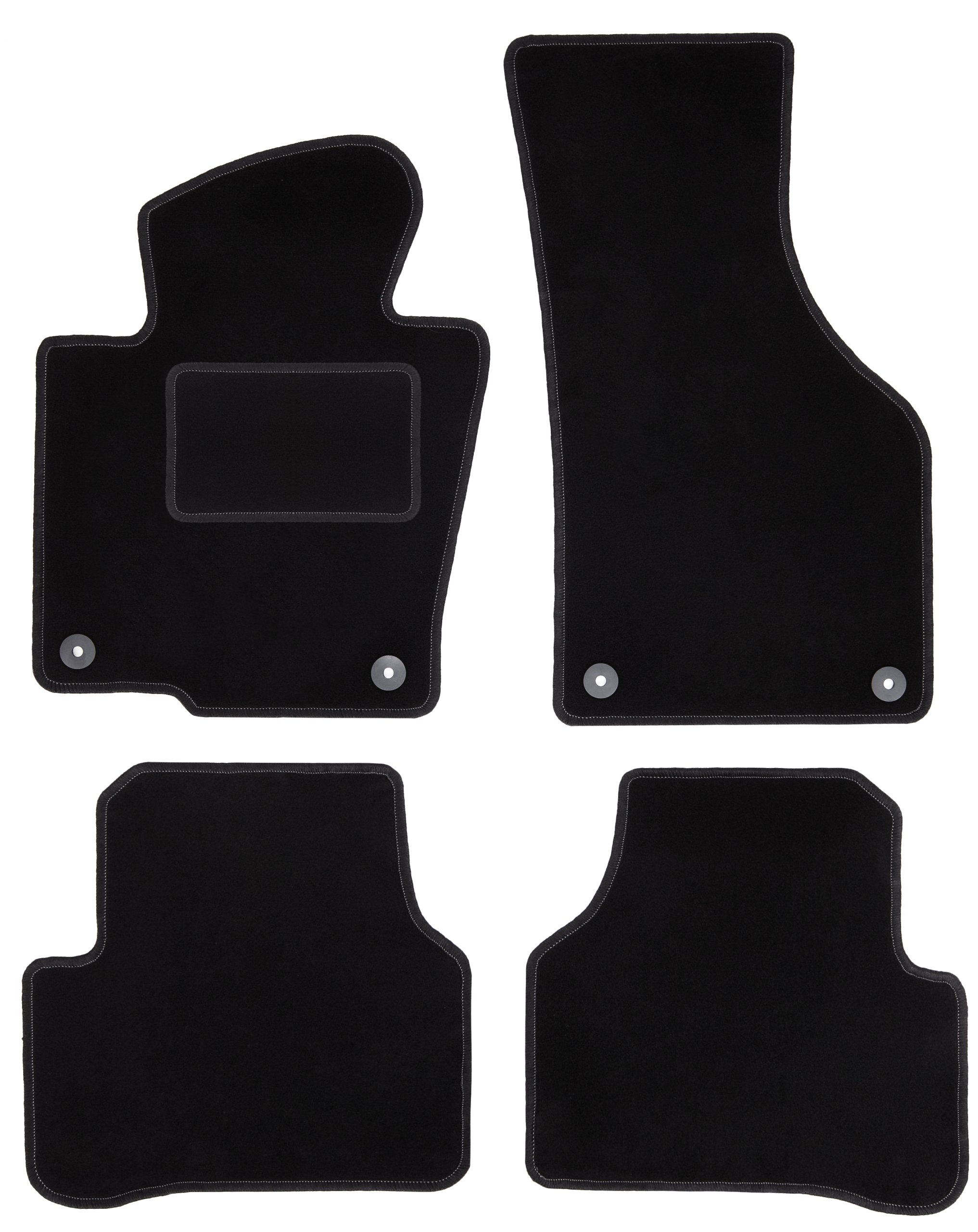 dywaniki CARLUX czarne do: VW Passat B6 / B7 / CC