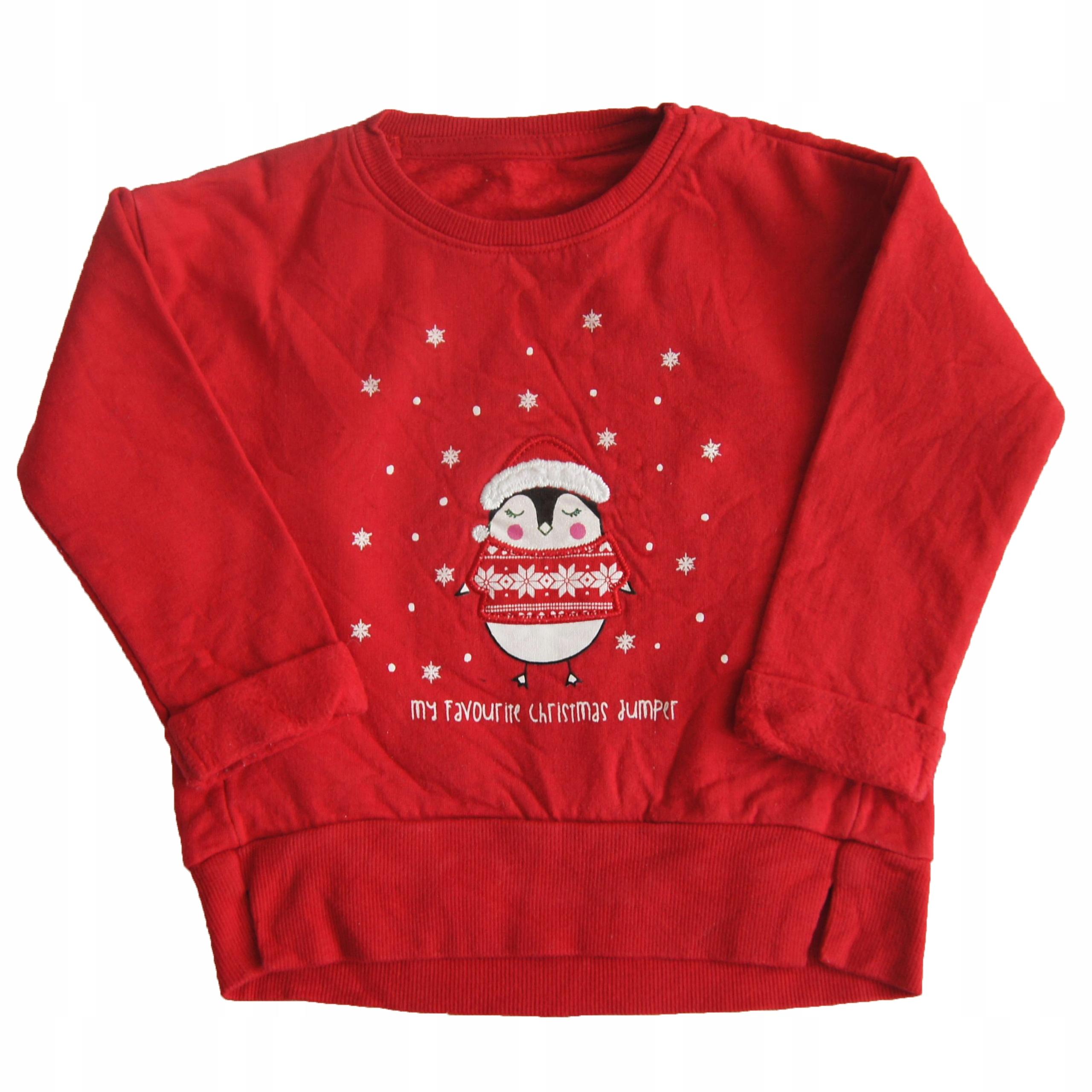świąteczna Bluzka Dla Dziewczynki Chłopca Roz 86 7659482650 Allegro Pl