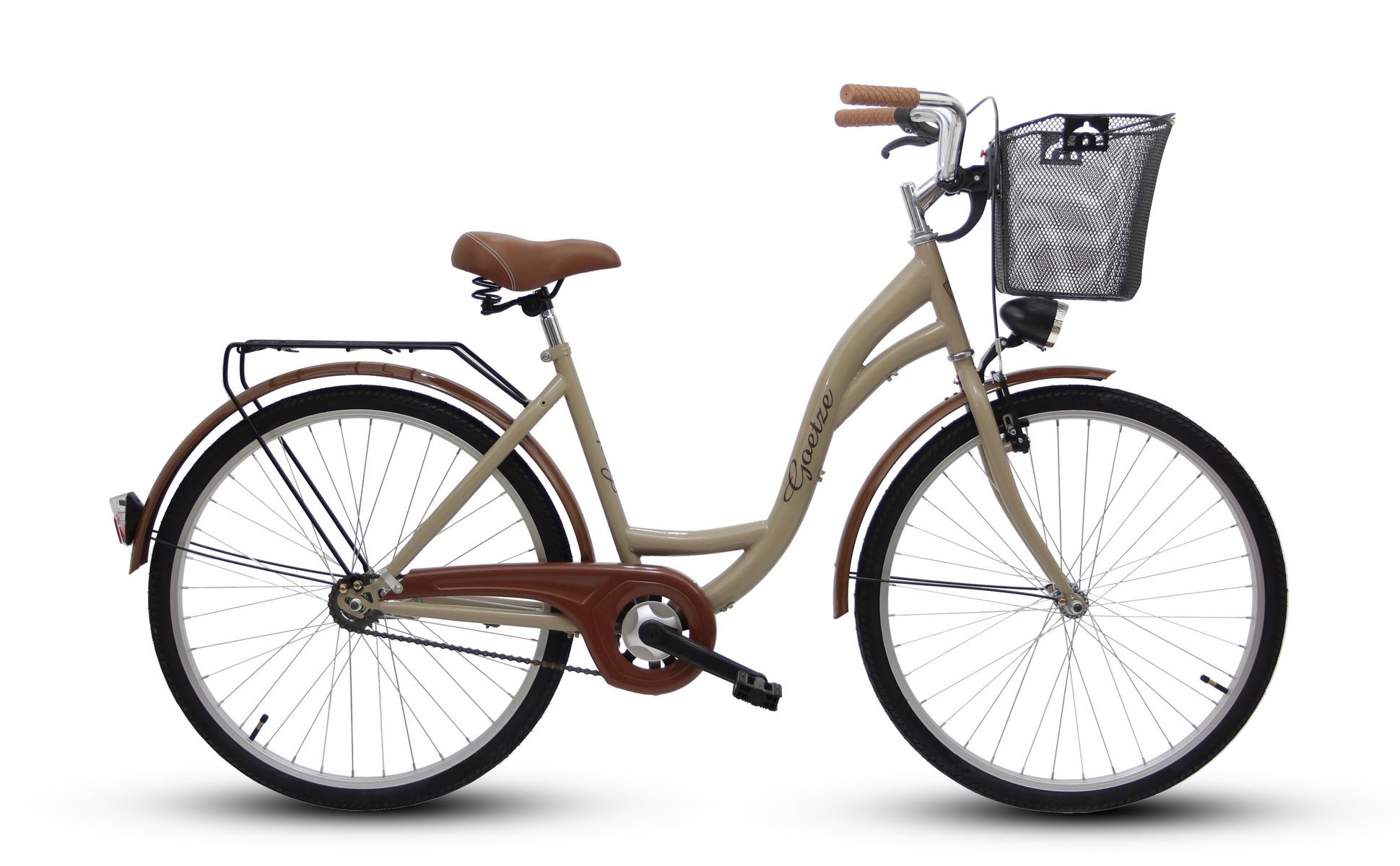 Dámsky mestský bicykel GOETZE 26 eco lady + košík !!!  Materiál rámu oceľ