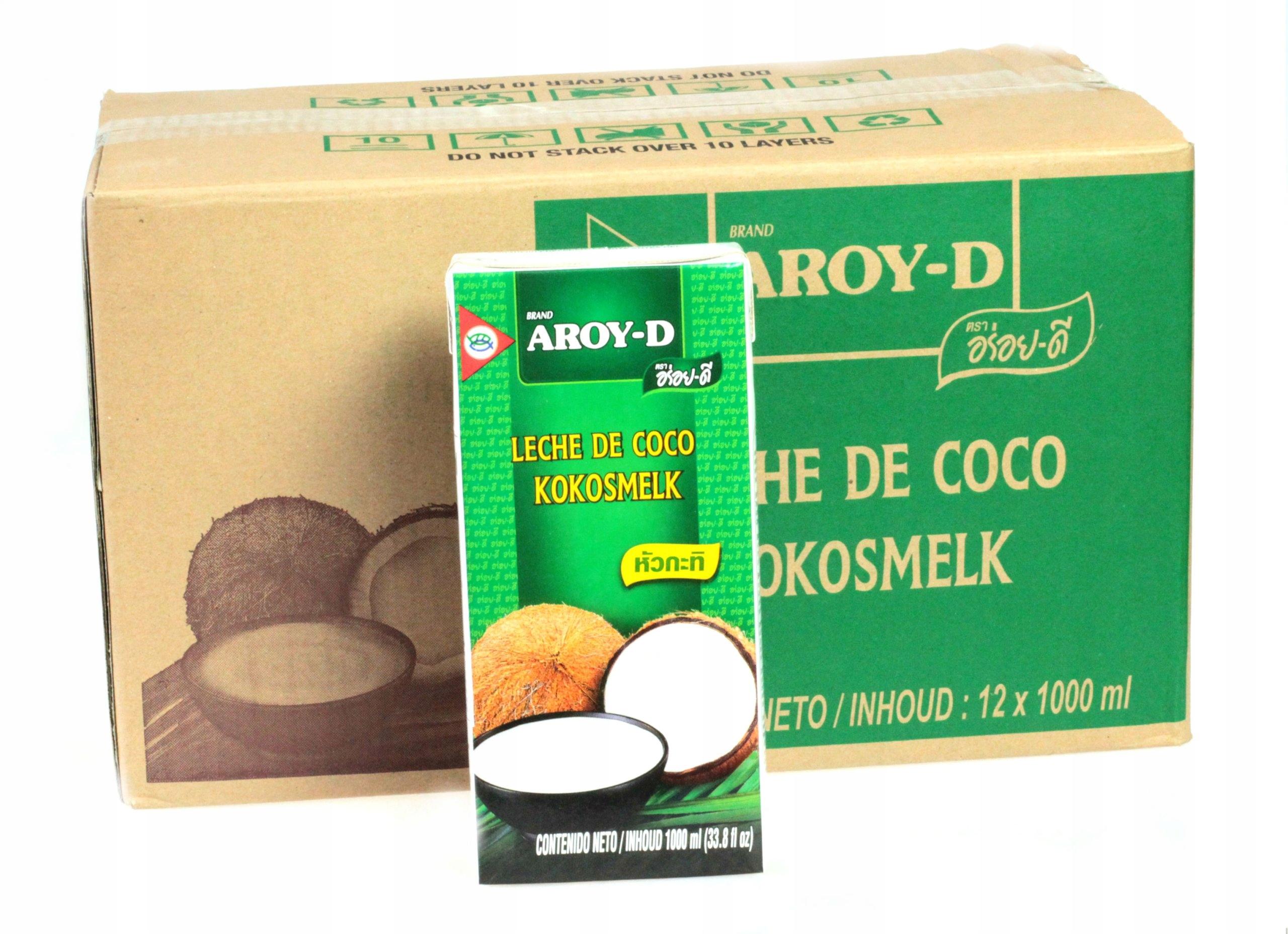 12x 1L Mlieka kokosové mlieko Aroy-D 70%