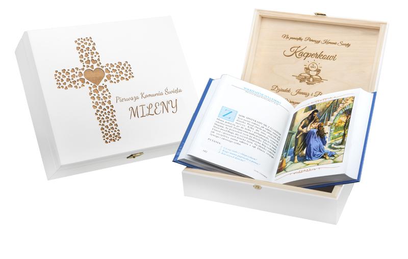 Библия, Писание, Святое Причастие Крещение Гравер Коробка